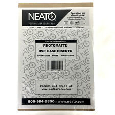 NEATO 100 White Photomatte DVD Case Inserts DIP-192608 NOS