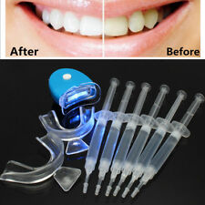 Dental Teeth Tooth Whitening Whitener Bleaching LED White Light Oral Gel Kit