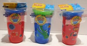 Nuby Active Sipeez 360 Degree Wonder Cup Sippy Cup 3pk 12m+