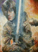 Mick & Matt Glebe Star Wars Mini Masterpieces Luke Skywalker Sketch Card
