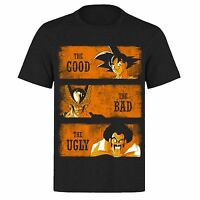 THE GOOD THE BAD AND THE GOKU UNISEX BLACK CLASSIC GAMERS PH9 T-SHIRT