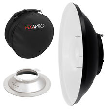 42cm White Beauty Dish with Padded Carry Case (Broncolor S) Studio Location Bag