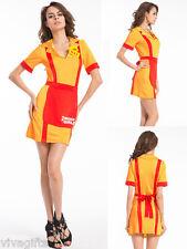 2 Broke Girls Waitress Womens Costume Max and Caroline SZ 12/14