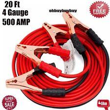 20 Ft 4 Gauge Heavy Duty Power Booster Cable Emergency Car Battery Jumper AP