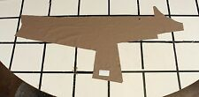 "Smooth ""Grullo"" Taupe-Brown Scrap Leather Hide Approx. 5.75 sqft. Q18Z10-7"