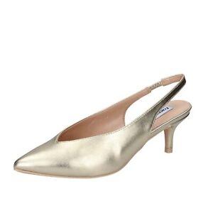 scarpe donna FRANCESCO MILANO decollete platino pelle sintetica BH45