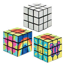 Pack Of 2 Craft Project Blank Paint Your Own 3x3 Puzzle Cube Skill Twist Squares