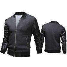 A USPS Men's Casual Jacket Warm Baseball Coat Slim Outwear Overcoat Winter XXL*