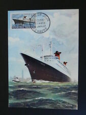 ship paquebot France French Line maximum card 59091