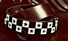 New Black Belt with Black & White  Check Studs With Stars.