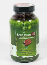 Irwin Naturals BRAIN AWAKE RED w/Nitric Oxide Booster 60 SoftGels 12/2020