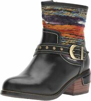 L'Artiste by Spring Step Women's Gaetana Ankle Bootie, Black, Size 5.0 oBOH