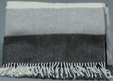 FRAAS MULTI GRAY PLAID 100% Acrylic Throw w/Fringe Germany