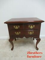 Pennsylvania House Cherry Chippendale Lamp End Table Night Stand Queen Ann