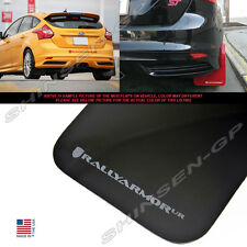 Rally Armor UR Black Mud Flaps w/ Grey Logo for 2012-2018 Ford Focus Hatchback