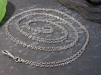 Lange 800 Silber Taschenuhrenkette Ankerkette Jugendstil Art Deco Charivari