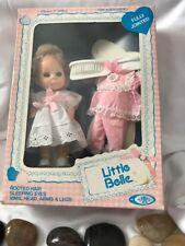 1979 Playmates Little Belle ,rooted Hair Sleeping Eyes ,vinyl Head arms And Legs