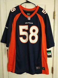 XL Nike Von Miller #58 Denver Broncos On Field Jersey 479415-419 GAME STYLE $100
