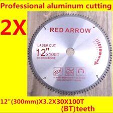 2PCS new TCT saw blades 12inch 300mmx30(25.4)mmX100T Professional cut aluminum