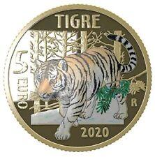 5 euro 2020 ITALIA MONDO SOSTENIBILE ANIMALI IN VIA DI ESTINSIONE PROOF SOLD OUT