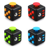 Magic Fidget Cube Anxiety Stress Relief Focus 6-side Kid Toy Gift Classic Colour