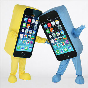 Advertising Phone Mascot Adult Size Cell Phone Cosplay Costume Party Fancy Dress