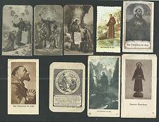 8 Estampas de San Francisco de Asis andachtsbild santino holy card santini