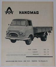 Advert Pubblicità 1961 HANOMAG MARKANT