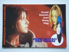 THREE COLOURS KRZYSZTOF KIELOWSKI'S AWARD TRILOGY AVANT CARD #918 POSTCARD