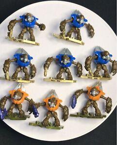 MEGA BLOKS 8 FIGURES HALO 5 Blue Grunt and 3 yellow Grunt