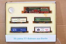 BERLINER BAHNEN VEB TT GAUGE KPEV 2-8-0 BR C8 LOCO 2721 30 JAHRE GOODS SET np