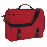 Red Messenger Satchel Briefcase Work College School Utility Shoulder Bag