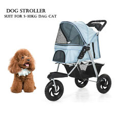 3 Wheels Folding Pet Stroller Cat Dog Cage Jogging Stroller Safe Travel Carrier