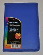 Stockwell Pad Folio Poly Folder with Note Pad, 50 Sheets, Dark Blue, 8.75 x 6