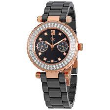 Guess Black Dial Ladies Diamond Ceramic Watch A28105L2