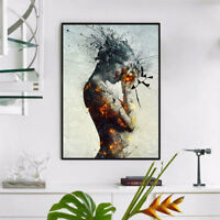 Modern Abstract Burning Beauty Canvas Print Wall Art Poster Home Decor Natural