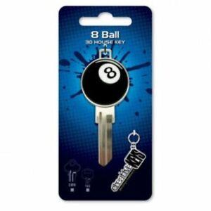 8 Ball 3D House Key Blank - TE2 Keyway  - Billiards - Snooker - Pool - Keys