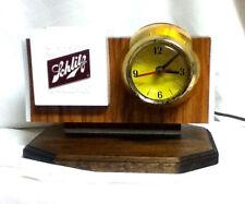 Schlitz lighted barrel clock beer sign back bar light vintage bubbler motion ik6