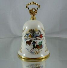 Gorham Fine China Currier & Ives Christmas Bell Hitching Up Vintage 1984 Noel