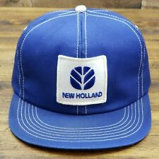 Vintage NEW HOLLAND Snapback Trucker Hat Patch Cap K Products USA