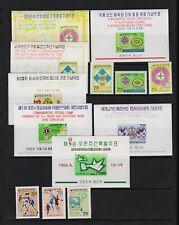 Korea - 6 Stamps, 7 Souvenir sheets, cat. $ 36.85