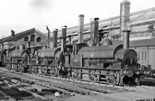 PHOTO  BUCKINGHAMSHIRE  WOLVERTON CARRIAGE WORKS 1954 LINE UP OF THE WORKS SHUNT