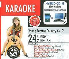 Karaoke: Young Female Country Vol.2 (2 Discs, All Star Karaoke, AM) BN Sealed
