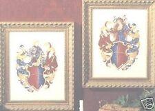 Knight & Maiden Counted cross stitch chart Crest Art Crafts