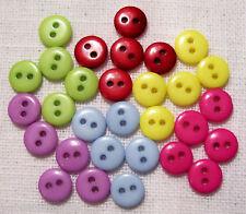 LOT 30 mini BOUTONS ** 9 mm ** couleur mélangée - layette scrapbooking