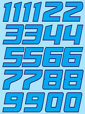 Zahlen Racing Numbers Gumball Nascar Style blau blue 1:18 Decal Abziehbilder