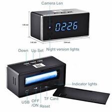 HD Wifi Camera Clock-Night Vision, Motion Detection, Loop Recording,Security Cam