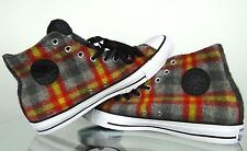 CONVERSE ALL STAR CHUCK TAYLOR WOOLRICH GREY RED YELLOW PLAID Size 5.5 7.5