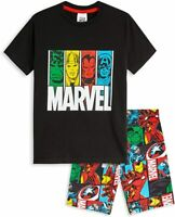 Marvel Boys Teenagers 2 Piece Short Pyjamas, Iron Man Captain America Hulk Thor