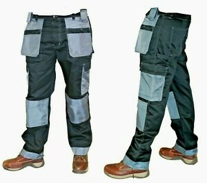 Work Trousers Twill Holster & knee Pad Pockets Heavy Duty 10 Pockets Durable